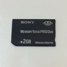 Sony 2GB Memory Stick PRO Duo Card MSX-M2GS PSP Magic Gate Mark 2 • UNTESTED