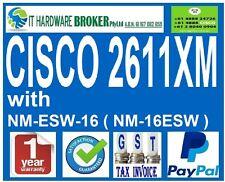 CISCO 2611XM with 1 x WIC-1T, 1 x NM-ESW-16 ( NM-16ESW ) - 1 YEAR WARRANTY/ INV