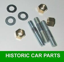 MORRIS MINOR 1000 1956-71 - 3 THERMOSTAT HOUSING STUDS 3 WASHERS 3 BRASS NUTS