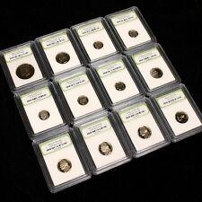 Estate Sale USA Proof Coin Dealer Lot. 12 Slabbed Proof Coins - No Pennies