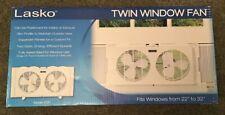 """Lasko Twin Window Fan For 22"""" To 32"""" Windows"""