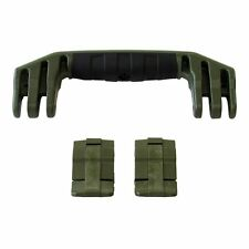 Pelican Green 1450 / 1500 replacement latches (2) & handle (1) kits.