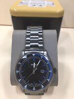 Fossil Men's Belmar Three-Hand Date Smoke Stainless Steel Watch FS5532