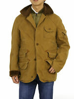 Polo Ralph Lauren Down Lined Hunting Jacket Coat - Tan - size L, Large