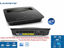 Linksys X6200 DUAL BAND AC750 GIGABIT WIRELESS ADSL/VDSL Wi-Fi Modem Router