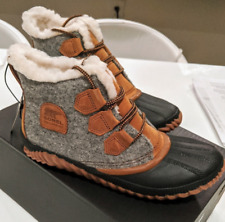 NIB NEW Sorel Out N About Faux Fur-Lined Boots 8.5 SOLD OUT HTF