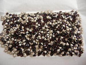 72 swarovski princess cut square stones,4mm burgundy/foiled #4447