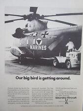 9/70 PUB SIKORSKY CH-53 MARINES / VINTEN PHOTOGRAPHIC RECONNAISSANCE SYSTEMS AD