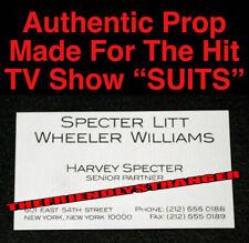"""Rare HARVEY SPECTER """"SUITS"""" PROP BUSINESS CARD (A) 100% Authentic GABRIEL MACHT"""