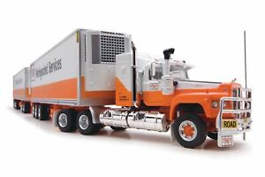 1:64 TNT Refrigerated Services Road Train - Mack Prime Mover -- Highway Replicas
