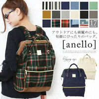 8015595c5a5f Anello Official Check Pattern Handle Backpack Campus Rucksack Canvas School  Bag