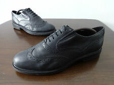 Womens brogue shoes size 6.5 black leather Russell & Bromley lace up EUR 39.5