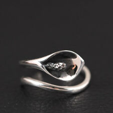 Damen Ring Calla echt Sterling Silber 925 Antik Optik Lilie  Blume