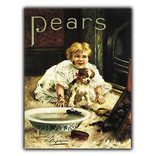 Pears Soap Métal Signe Plaque murale vintage salle de bain cuisine pub art imprimé 1900