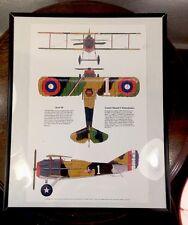 "WW1, Fighter Bi Plane, Airplane Poster Illustration Art 20"" X 16"" Hamilton War"