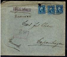 1915 US Post Office Shanghai China Denmark Ferd Bornemann New York USA Cover