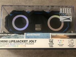 Altec Mini LifeJacket Jolt Bluetooth Speaker Black/Blue, NEW/SEALED