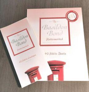 BASILDON BOND Post Quarto Writing Paper - 1 Pad of 40 Sheets 1 Pack of Envolopes