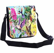 Hummingbird Garden Small Cross-Body Shoulder Bag Handy Size