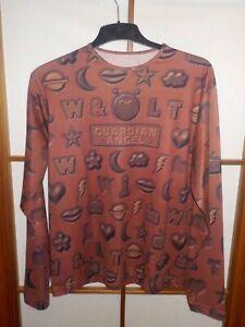 W.&L.T. W< Walter van Beirendonck Long Sleeved Shirt AOP Lebkuchen braun XL