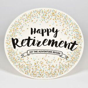 Enesco Our Name is Mud Happy Retirement Platter Decorative Plate 11.25 Inch