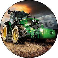 Tracteur Ferme Decoration Gateau Disque Azyme Comestible Anniversaire 20cm