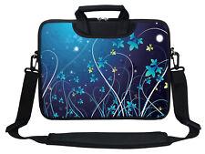 "12"" Laptop Computer Sleeve Bag with 2 Top Pockets & Shoulder Strap Handle  1407"