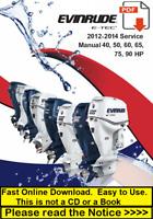 2012 2013 2014 Evinrude E-TEC 40 50 60 75 90 HP Outboard Repair Service Manual