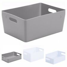 Plastic Studio Basket With Handles, Storage Baskets, bathroom, kitchen storage