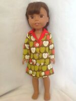 """Fit Wellie Wishers American Girl fall apples coat jacket 14"""" doll clothes outfit"""