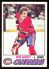 1977 78 OPC O PEE CHEE #129 BOB GAINEY NM MONTREAL CANADIENS HOCKEY CARD