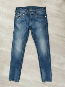 True Religion Men's Skinny Vintage Style Straight Leg Jeans. SIZE 32W. 33L.