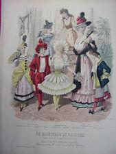 """71/ GRAVURE DE MODE """" Moniteur de la Mode Paris 1891 """".   Grand format 36x26"""