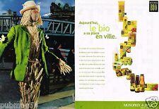 Publicité Advertising 2000 (2 pages) Produits Bio chez Monoprix et Prisunic