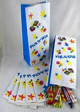 12 Sweets & Stars Block Bottom Pick 'n' Mix Sweet Bags 240mm High