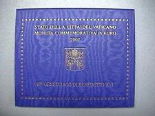 VATICANO 2007 2 EURO commemorativo FDC BU 80° Genetliaco Papa Benedetto XVI