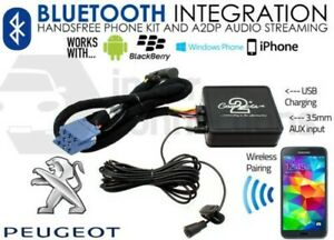 Peugeot Bluetooth streaming handsfree calls CTAPGBT010 AUX USB MP3 iPhone Sony