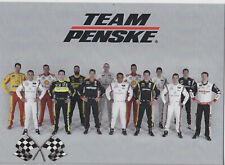 2019 TEAM PENSKE NASCAR MONSTER CUP/INDY CAR/IMSA/XFINITY SERIES POSTCARD