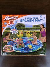 Banzai Jr Ducky Pond Splash Mat Inflatable Water Fountain Set 18 months +