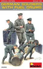 Miniart 1/35 Soldados alemanes cargando combustible tambores # 35256
