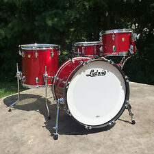 "Ludwig Classic Maple Downbeat 3pc  20/12/14"" Red Sparkle w/ Free 14"" Snare!"