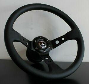 Steering Wheel Mercedes Benz Deep Dish Leather Set W114 W115 W116 R107 1962-1978