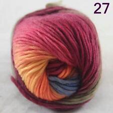 SALE NEW Chunky Colorful Hand Knitting Scores Wool Yarn Blue Orange Yellow Purpl