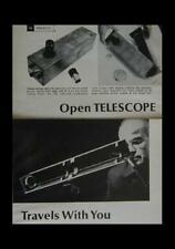 Portable Open Telescope How-To build PLANS Folds up small