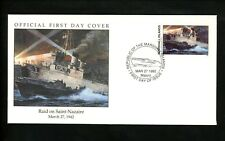 Postal History Marshall Islands FDC #304 World War II Raid Saint Nazaire 1992