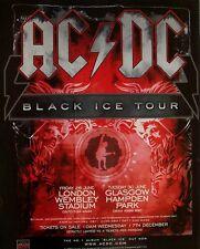 AC/DC 2009 Advert BLACK ICE CONCERT TOUR mini poster