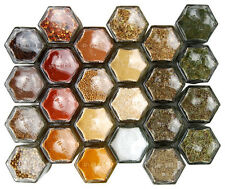 10 Hex Magnetic hexagaon Pots à 55 ml-rempli de 10 épices indiennes