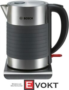 Bosch TWK7S05  Household Kettle cordless Stainless steel Black New