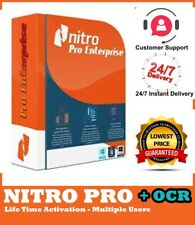 ⚡ Nitro Pro 13 ⚡ Edit PDF/Convert/Create/2020 🔑Life Time Activation 🔥[+OCR]🔥