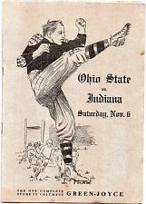 1915 Ohio State Buckeyes vs Indiana Hoosiers Football Program CHIC HARLEY FRESH